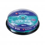DVD+RW Verbatim 4x 4.7 GB шпиндел 10 бр.