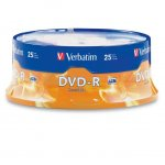 DVD-R Verbatim 16x 4.7 GB шпиндел 25 бр.