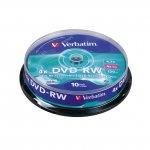 DVD-RW Verbatim 6x 4.7 GB шпиндел 10 бр.