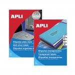 Етикети Apli матово-прозр. 210х297 mm A4 20 л.