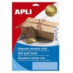 Етикети Apli златисти 45.7х21.2 mm А4, 20 л.