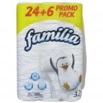 Тоалетна хартия Familia трипл. неар. 24+6бр. Бял