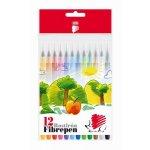 Флумастери Ico 300 12 цвята в кутия