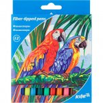 Флумастери Kite Рarrot 12 цвята в кутия