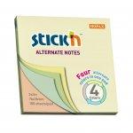 Stick'n Самозалепващи листчета Alternate, 76 x 76 mm, пастелни, 100 листа