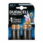 Duracell Алкална батерия Turbo, AA, LR6, 1.5 V, 4 броя