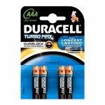 Duracell Алкална батерия Turbo, AAA, LR03, 1.5 V, 4 броя
