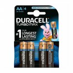 Duracell Алкална батерия Turbo, AA, LR6, 1.5 V, 4 броя
