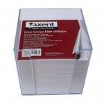Бели листчета с поставка Axent 90x90x70 mm