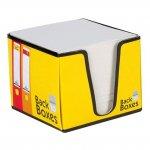 Бяло хартиено кубче поставка B2B 82x82x70mm Жълт