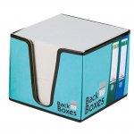 Бяло хартиено кубче поставка B2B 82x82x70mm Син