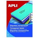 Етикети Apli матово-прозрачни 48.5x25.4 mm A4 20 л.