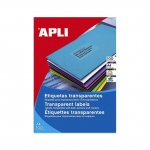 Етикети Apli матово-прозр. 63.5x38.1 mm A4 20 л.