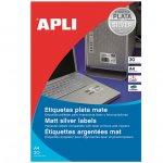 Етикети Apli сребристи 63.5x29.6 mm А4, 20 л.
