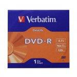 Verbatim DVD-R, 4.7 GB, 16x, AZO покритие, в картонена кутия
