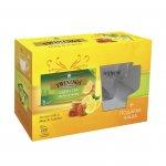 """Twinings Чай """"Зелен с лимон и мед'', 2 g, в пакетче, 20 броя и чаша"""