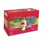"""Twinings Чай """"Зелен с череша и ванилия'', 2 g, в пакетче, 20 броя и чаша"""