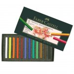 Faber-Castell Сухи пастели Polychromos, 12 цвята