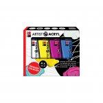 Marabu Акрилна боя Artist Acryl, основни цветове, 75 ml, 4 броя