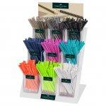 Faber-Castell Молив Sparkle, чернографитен, цветове, 9 цвята, 432 броя в дисплей