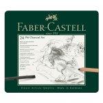 Faber-Castell Комплект въглени Pitt Charcoal, 24 броя в метална кутия