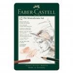 Faber-Castell Комплект моливи Pitt Monochrome, 12 броя в метална кутия