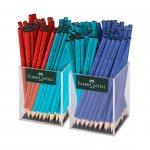 Faber-Castell Моливи Grip 2001, червени, сини и тюркоазени, 144 броя