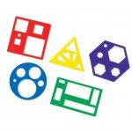 Шаблони, с геометрични фигури, 5 броя