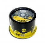 CD-R80 Maxell cake box wrapped, 700MB, 52X, 50 Б
