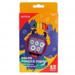 Цветни моливи Kite Jolliers Jumbo 12 цвята