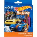 Флумастери Kite Hot Wheels 12 цвята в кутия
