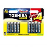 Батерия Toshiba алкални 1.5V LR6/AA 4 бр+4 бр