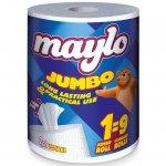 Кухненска ролка Maylo двупластова 790 g, 1 бр.х 340 къса, Бял