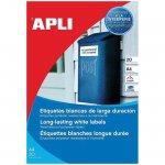 Етикети Apli бели полиестер 99.1 x 38.1 mm А4 20 листа