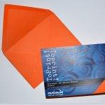 Плик цветен C6 114x162 mm Лепило 25 бр. Оранжев