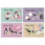 Бележник Bourgeois Pretty Birds 197x124 36л. тв. к.Бял