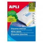 Етикети Apli 105x74 mm А4, 100 л. 8 етик.