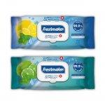 Мокри кърпи Freshmaker антибактериални, с капак, 72 бр.