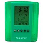 Моливник с часовник Assistant AH 1050 Зелен